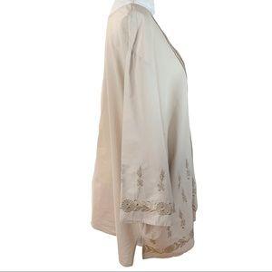 Catherines Tops - Catherine's Khaki Gathered Front Light Tunic- 4X
